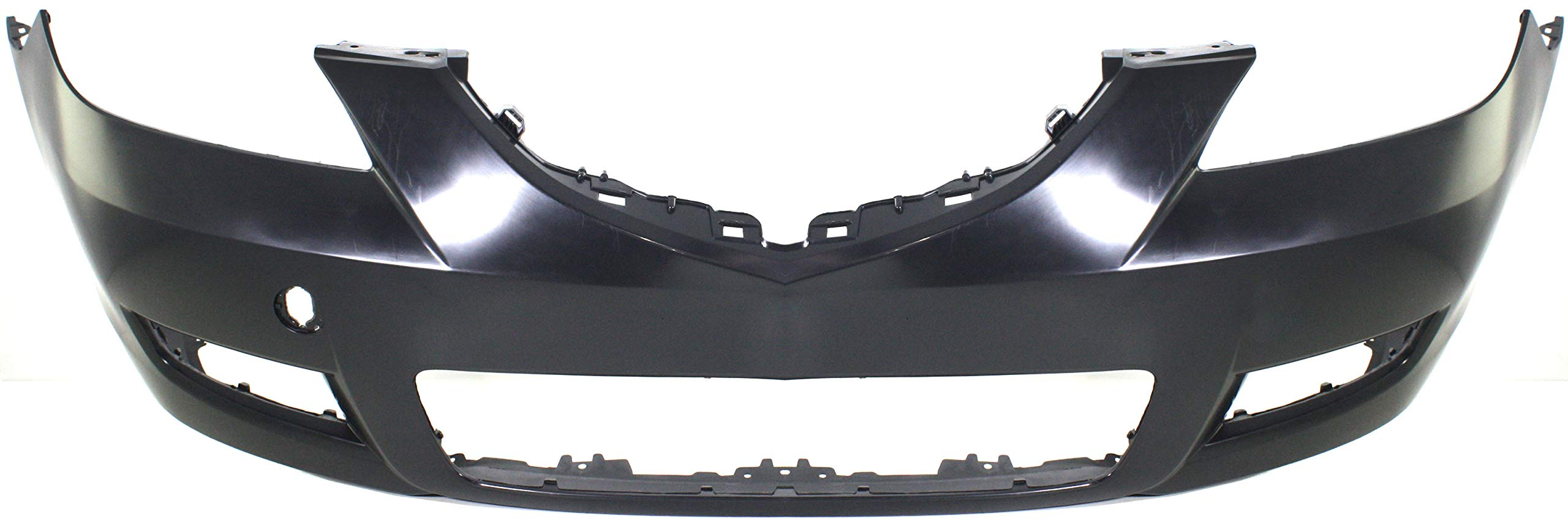 Front Bumper Cover Compatible with 2007-2009 Mazda 3 Primed Standard Type Sedan
