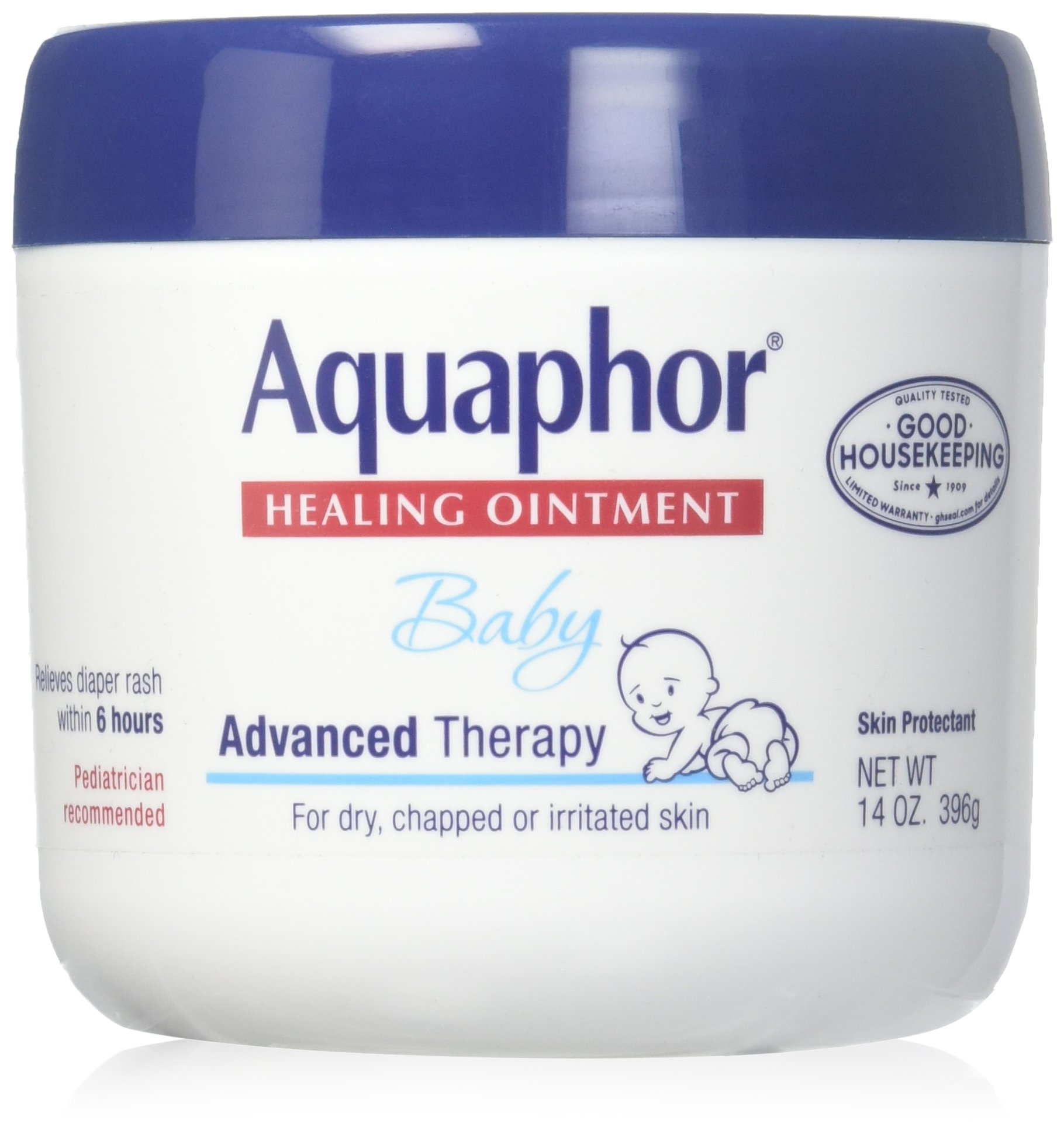 Aquaphor Baby Healing Ointment Advanced Therapy Skin Protectant, 14 Ounce, Pack of 3 by Aquaphor