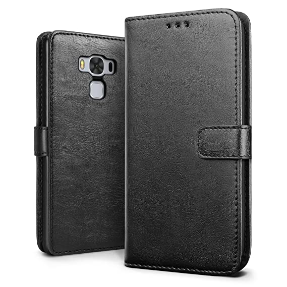 new arrival bb7e5 d44fa ZenFone 3 Max (ZC553KL) 5.5 inch Case, SLEO Retro Vintage PU Leather Wallet  Flip Case Cover for ASUS ZenFone 3 Max (ZC553KL) 5.5 inch (Verizon, AT&T ...
