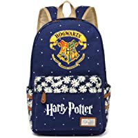 JUSTRHICE Korean Casual Canvas Backpack Laptop Bookbag School Bag Daypack for Harry Potter Cosplay
