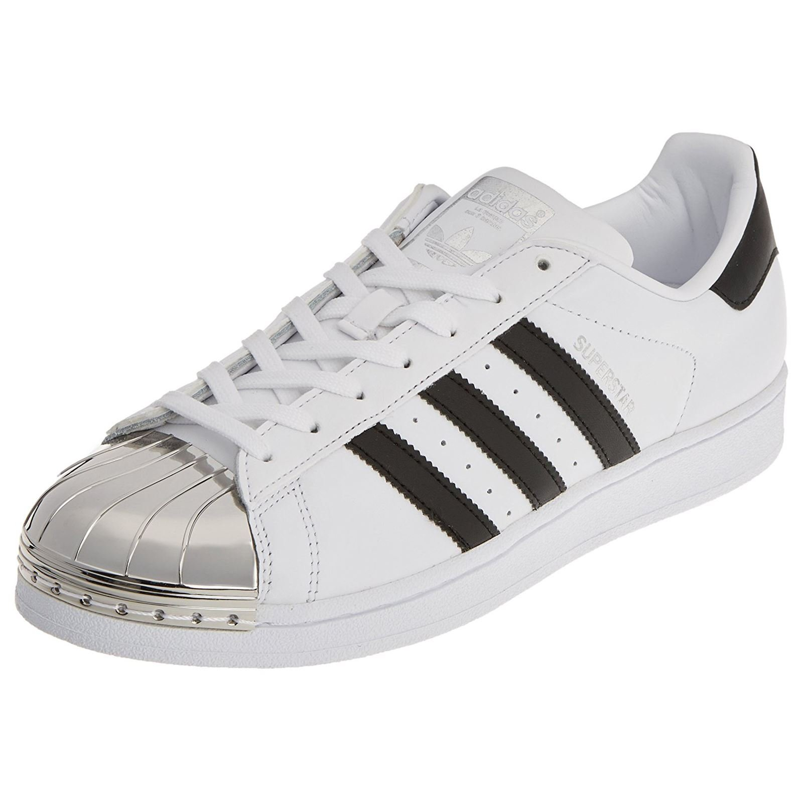 adidas Originals Women's Superstar 80S Metal Toe Trainers Footwear US6 White