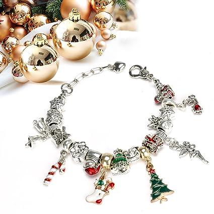 Pandora Christmas Charms.Pandora Diy Charm Bracelet Fashion Jewelry Beads Hand Chain Advent Calendars For Kids Toy Gift