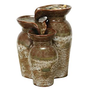 Nature's Garden Feng Shui Fountain, Brown and Ivory