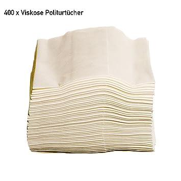 400 pcs bareas viscosa pulimento 38 x 34 cm toallas de toallitas ZVG - Colour blanco
