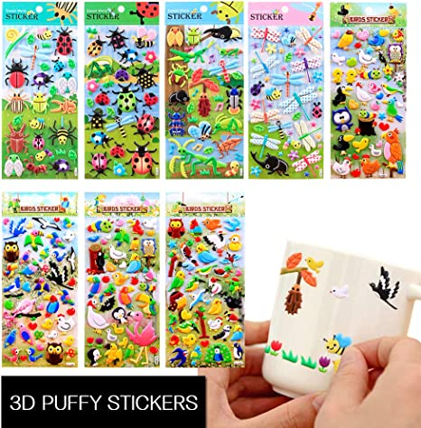 Cute 3d Fun Puffy Cartoon Love Kids Crafts Stickers-Kids Reward Stickers Gift Us