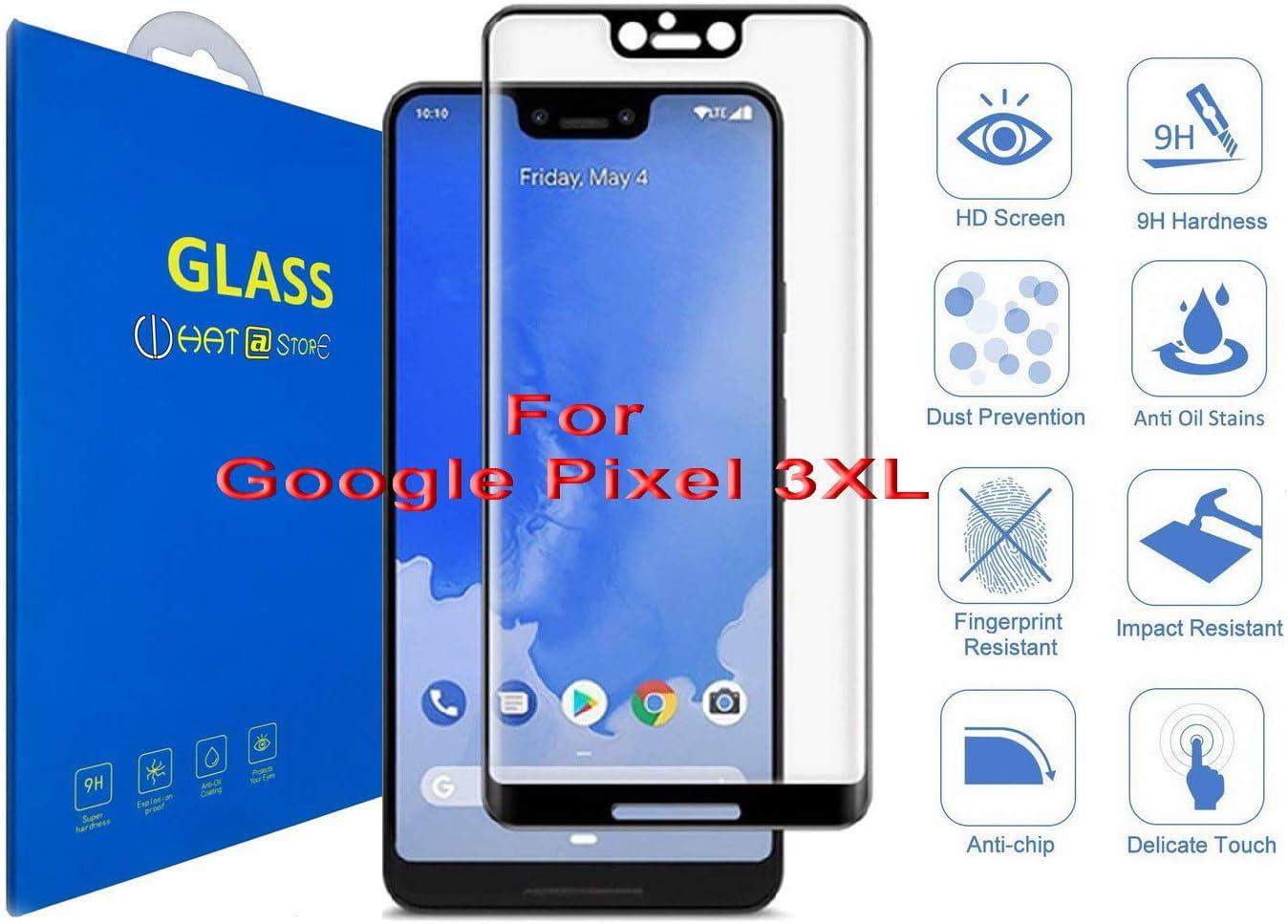 Google Pixel 3 XL - Curvo 3D Cristal Templado Protector de ...