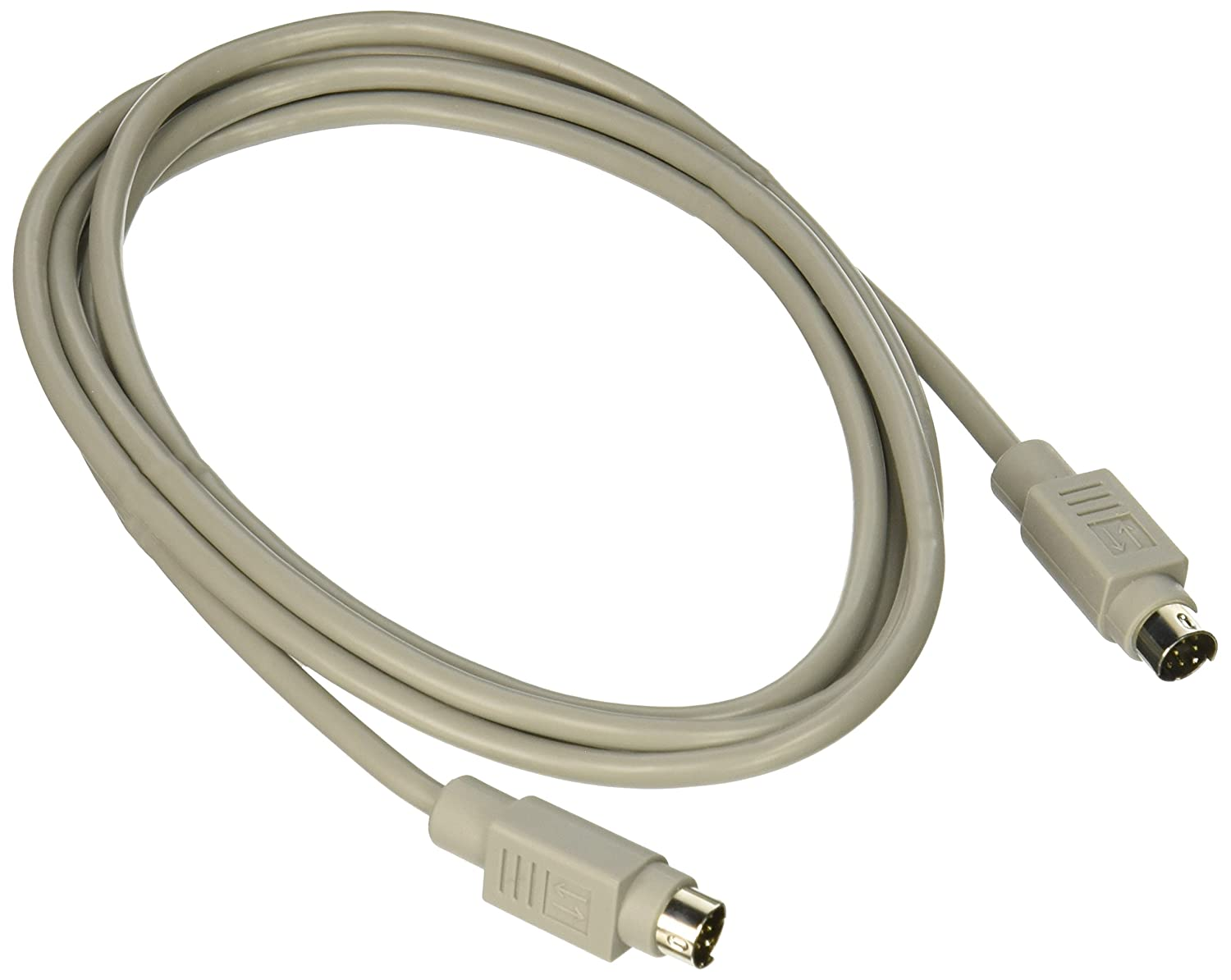 Beige C2G//Cables To Go C2G 02316 8-Pin Mini-DIN M//M Serial RS232 Cable 6 Feet, 1.82 Meters Black