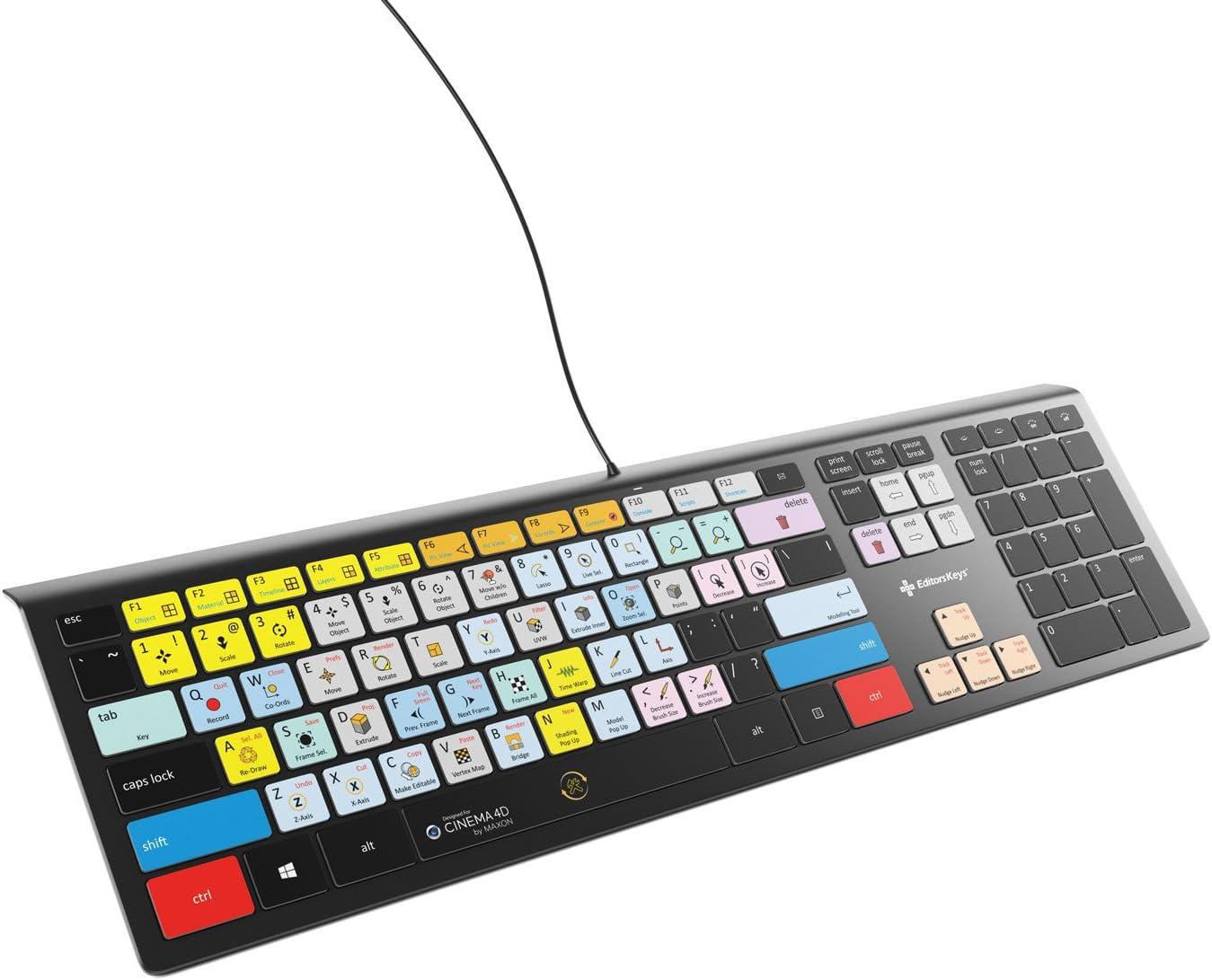 Maxon Cinema 4D Keyboard Backlit Windows USA Version