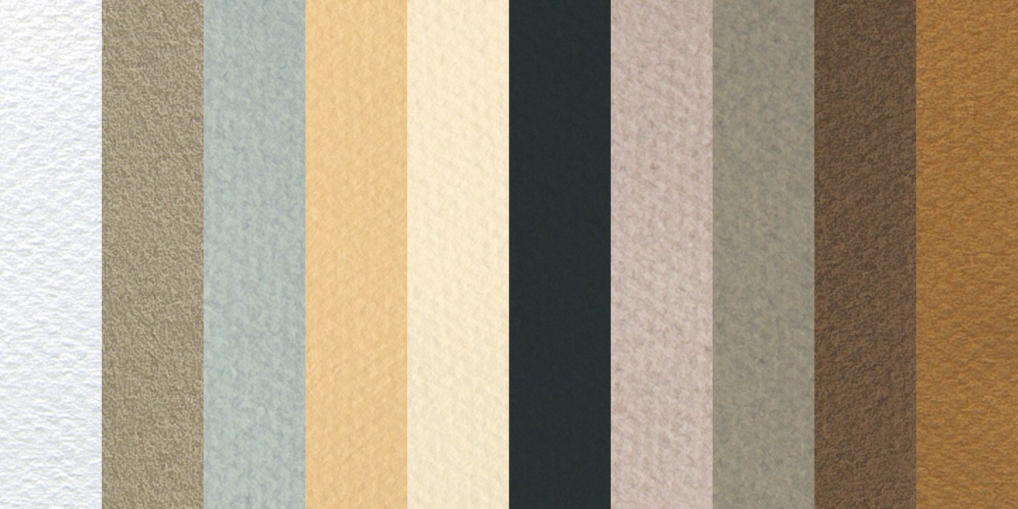 Canson Mi-Teintes Drawing Sheets, 19 x 25 Inches, Assorted Muted Colors, 10 Sheets by Canson