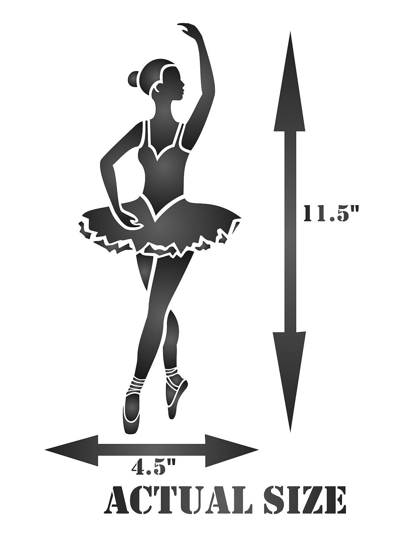 : Ballerina Schablone 11, 5 x 30, 5 cm