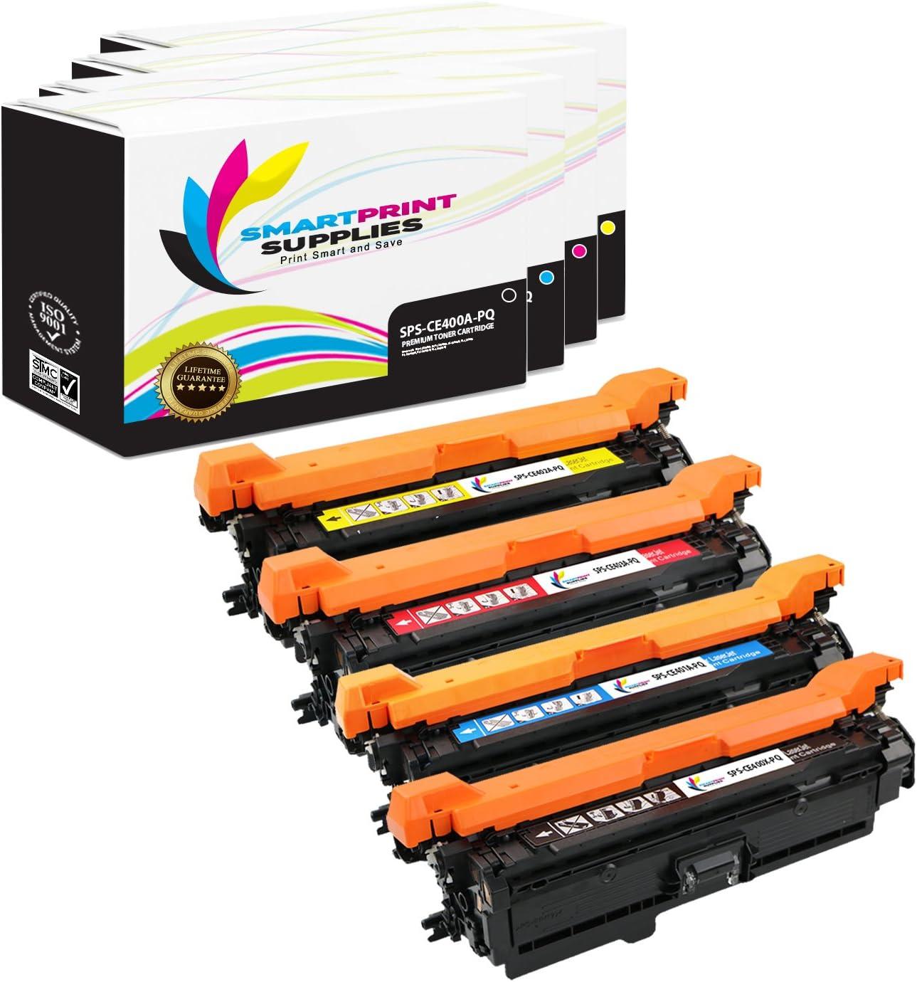 4 Pack Smart Print Supplies Compatible 507A 507X CE400X CE401A CE402A CE403A Premium Toner Cartridge Replacement for HP Laserjet M551 M551dn M551n M551xh Printers Black, Cyan, Magenta, Yellow