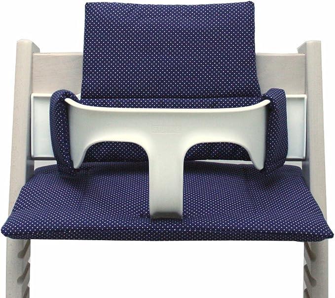 Gris fonc/é /étoile ENDUIT 100/% made in Hamburg Blausberg Baby *41 couleurs* coussin set de si/ège pour chaise haute Stokke Tripp Trapp