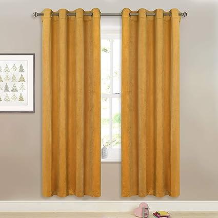 Amazon.com: Gold Velvet Drapes for Bedroom - Super Soft Luxurious ...