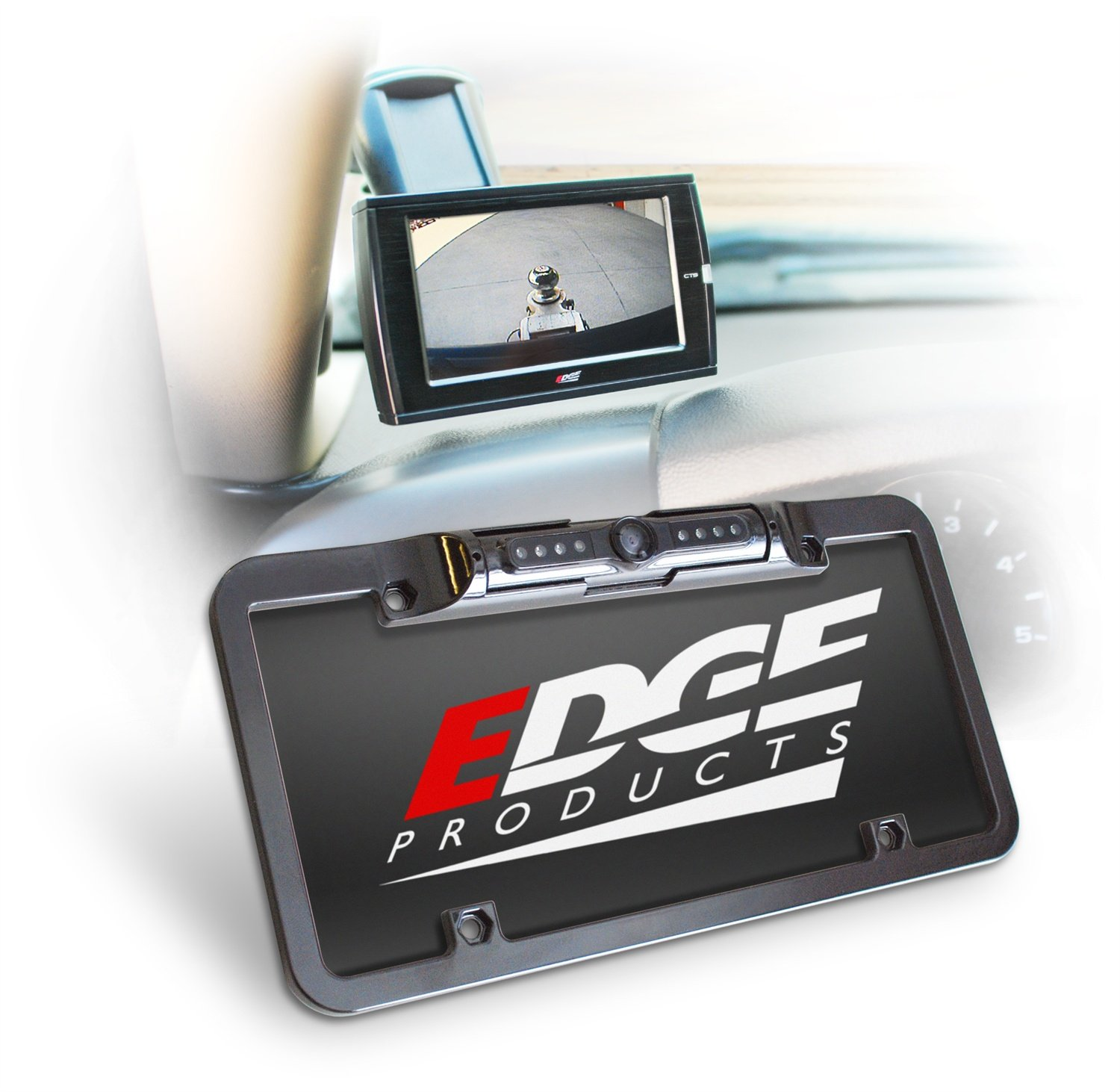 Edge Products Black License Plate Mount CTS Back Up Camera