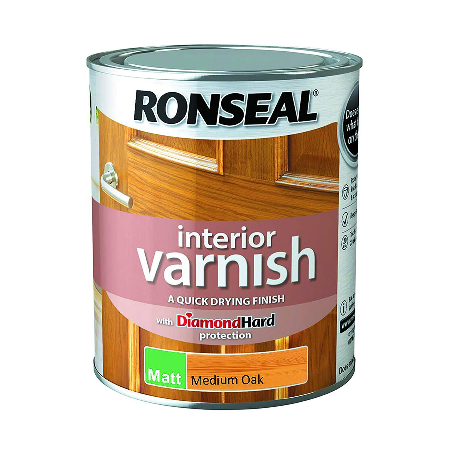 Ronseal Interior Varnish Medium Oak Matt 750ml 36863