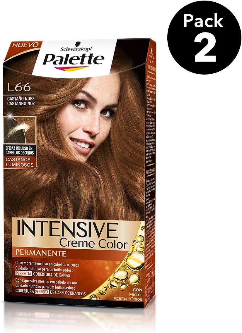 Palette Intense - Tono L66 Castaño Nuez - 2 uds - Coloración Permanente - Schwarzkopf