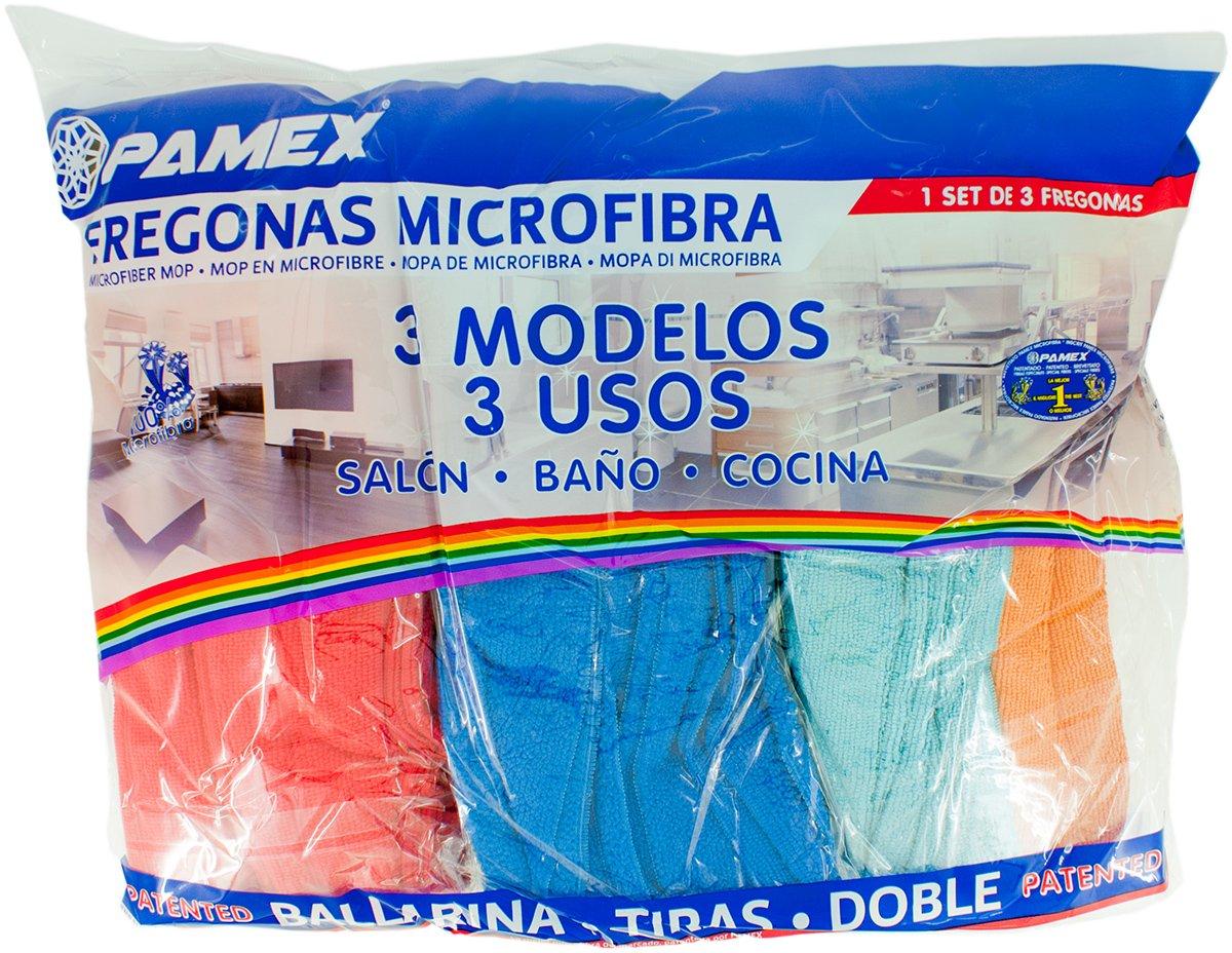 pamex mocio microfibra Ballarina strisce Set 3/Pezzi 3/modelli 3/usi