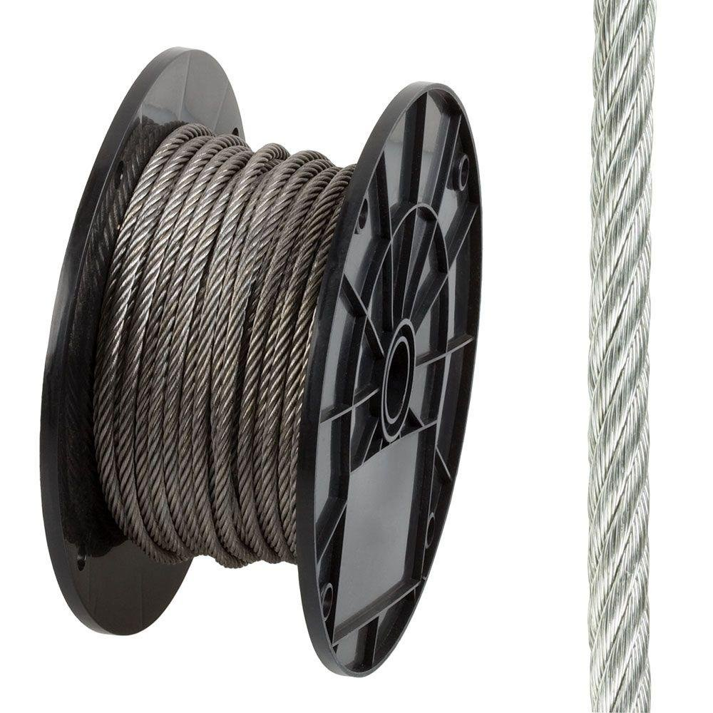 Everbilt 806360 3/16 in. x 125 ft. Stainless Steel Uncoated Wire Rope