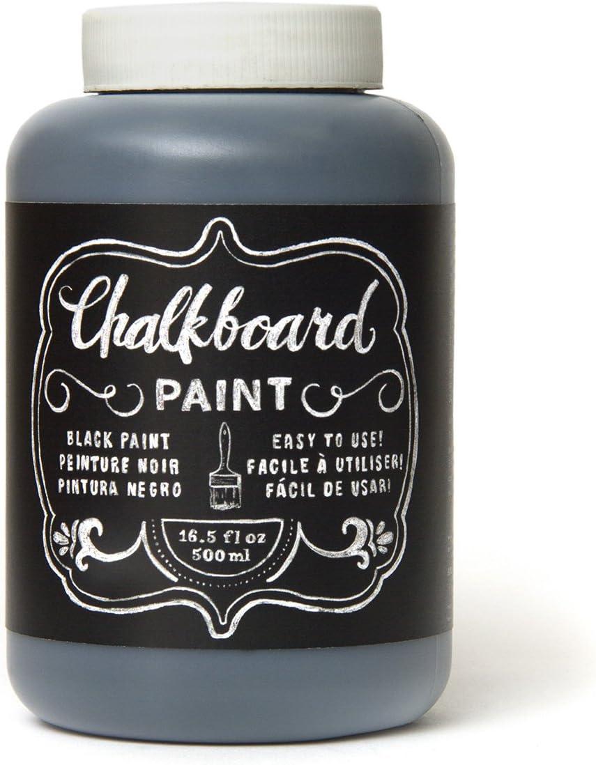 American Crafts DIY Shop Chalkboard Paint 16.5 Ounces, Black (366867)