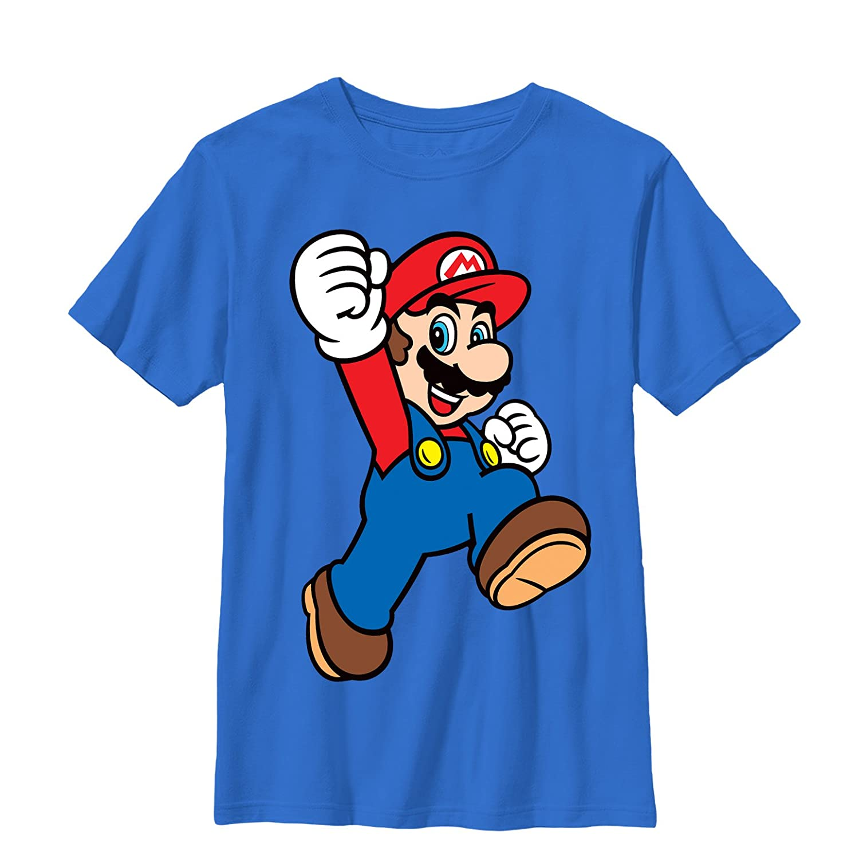 d438de586b0a60 Amazon.com  Nintendo Boys  Mario Jumpman T-Shirt  Clothing