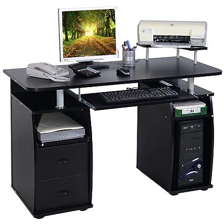 Scrivania Porta Pc Nero.Blitzzauber24 Scrivania Per Computer Per Ufficio Scrivania Porta