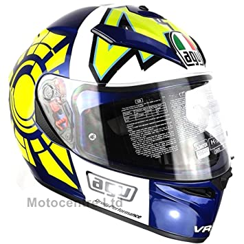 Nueva AGV K3 SV Rossi Invierno prueba azul casco de moto