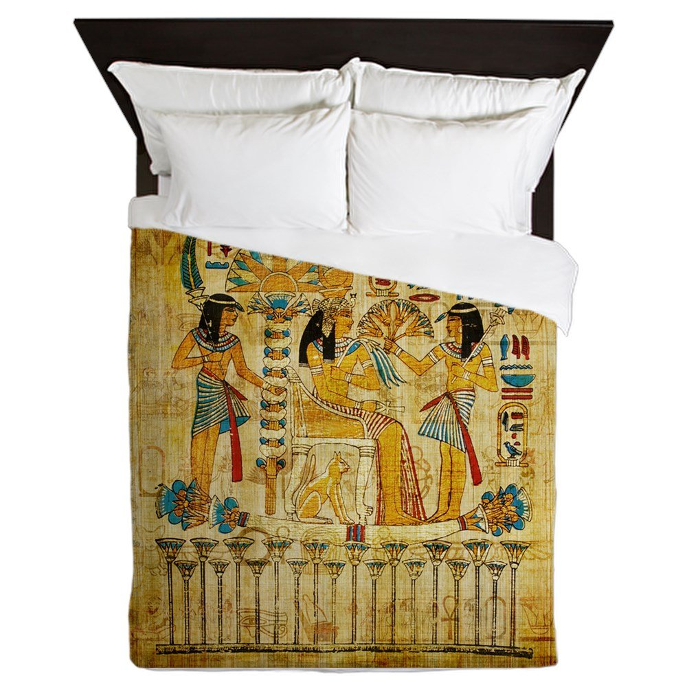 CafePress - Ancient Egypt Wall Scroll Tapestry Heiropglyphics - Queen Duvet Cover, Printed Comforter Cover, Unique Bedding, Microfiber