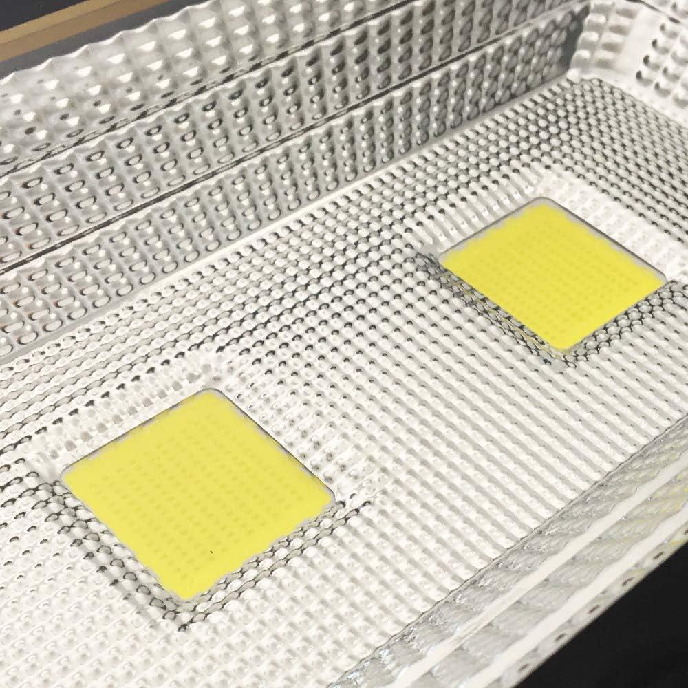 HENGMEI 20W blanc froid Projecteur de Chantier /à LED rotatif et portable Rechargeable Lampe de Travail IP65 Etanche