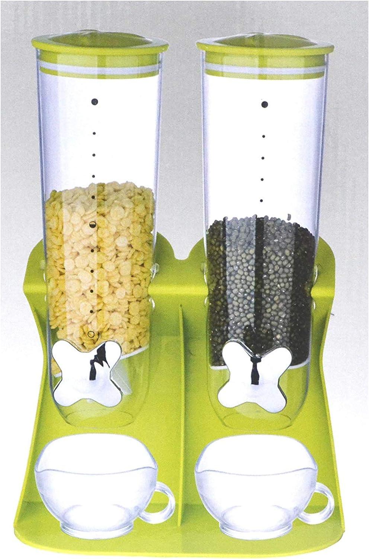 SHINE Caja Seca del dispensador de Cereal de la Comida Seca máquina de envase de la harina de Avena, nueces - Resistente e inastillable