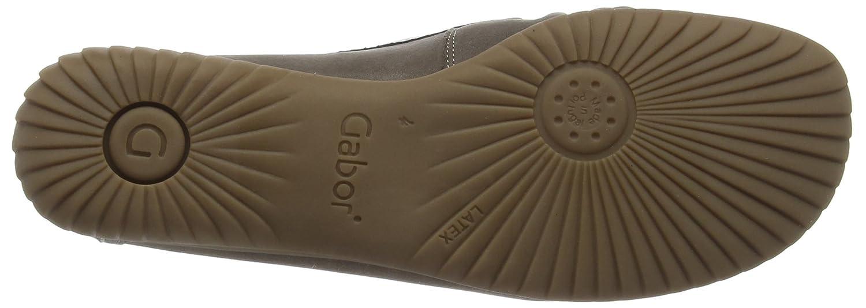 Gabor California Damen Metallic Mokassin Grau (Grau Nubuck/Grau Metallic Damen Leder) 1935cf
