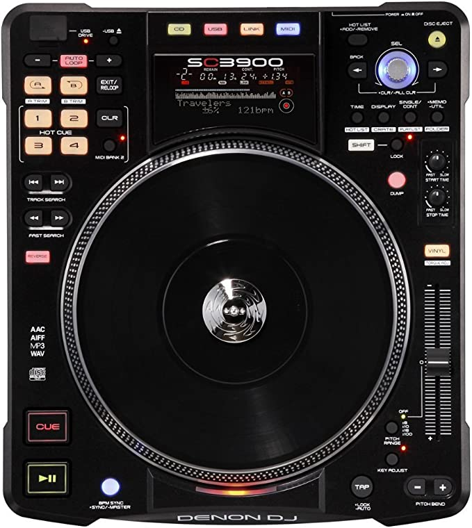 Amazon.com: Denon Dj sc3900 Digital Media Turntable/DJ ...