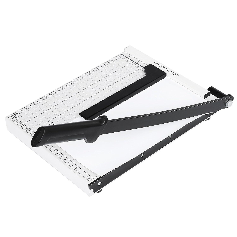 Meditool Taglierina per carta A4 multi funzione taglierina cutter professionale ghigliottina carta fogli A4 lama precisione paper cutters taglierina a Leva