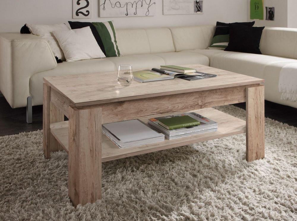 Wohnzimmertisch Beistelltisch Tisch Couchtisch 110 cm Nussbaum Satin