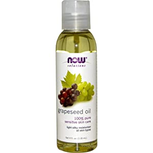 NOW Solutions, Grapeseed Oil, Skin Care for Sensitive Skin, Light Silky Moisturizer for All Skin Types, 4-Ounce
