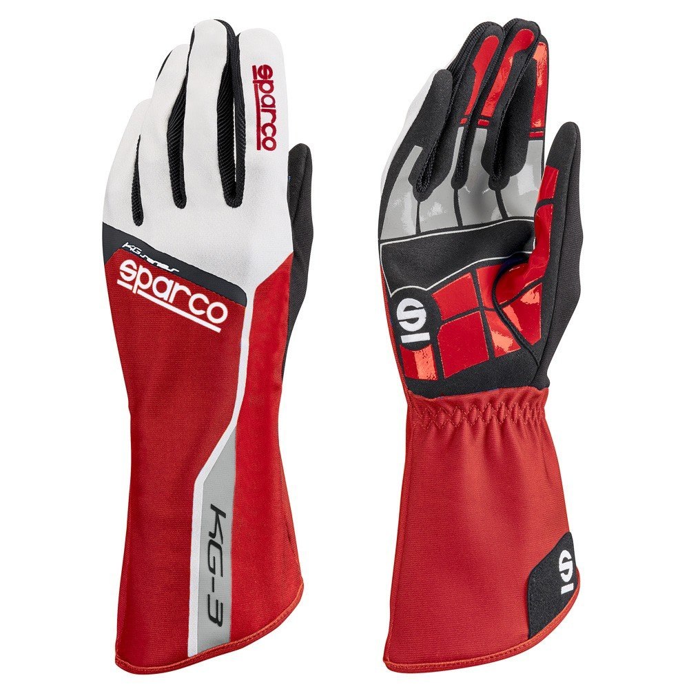 Sparco 00255313RS Guantes, Rojo, 13 S00255313RS