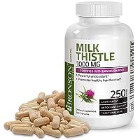 Milk Thistle 1000mg Silymarin Marianum & Dandelion Root Liver Health Support 250...