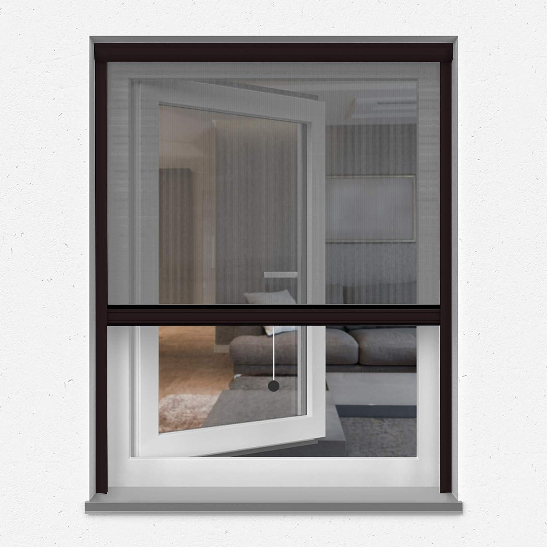 braun jarolift 4 in 1 Zanzara Insektenschutzrollo Insektenschutz Fenster Alurahmen B x H 70 x 130 cm