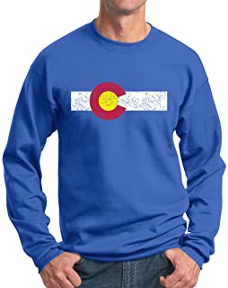 Amazon.com: Bandera de estado sudadera Colorado – Rocky ...