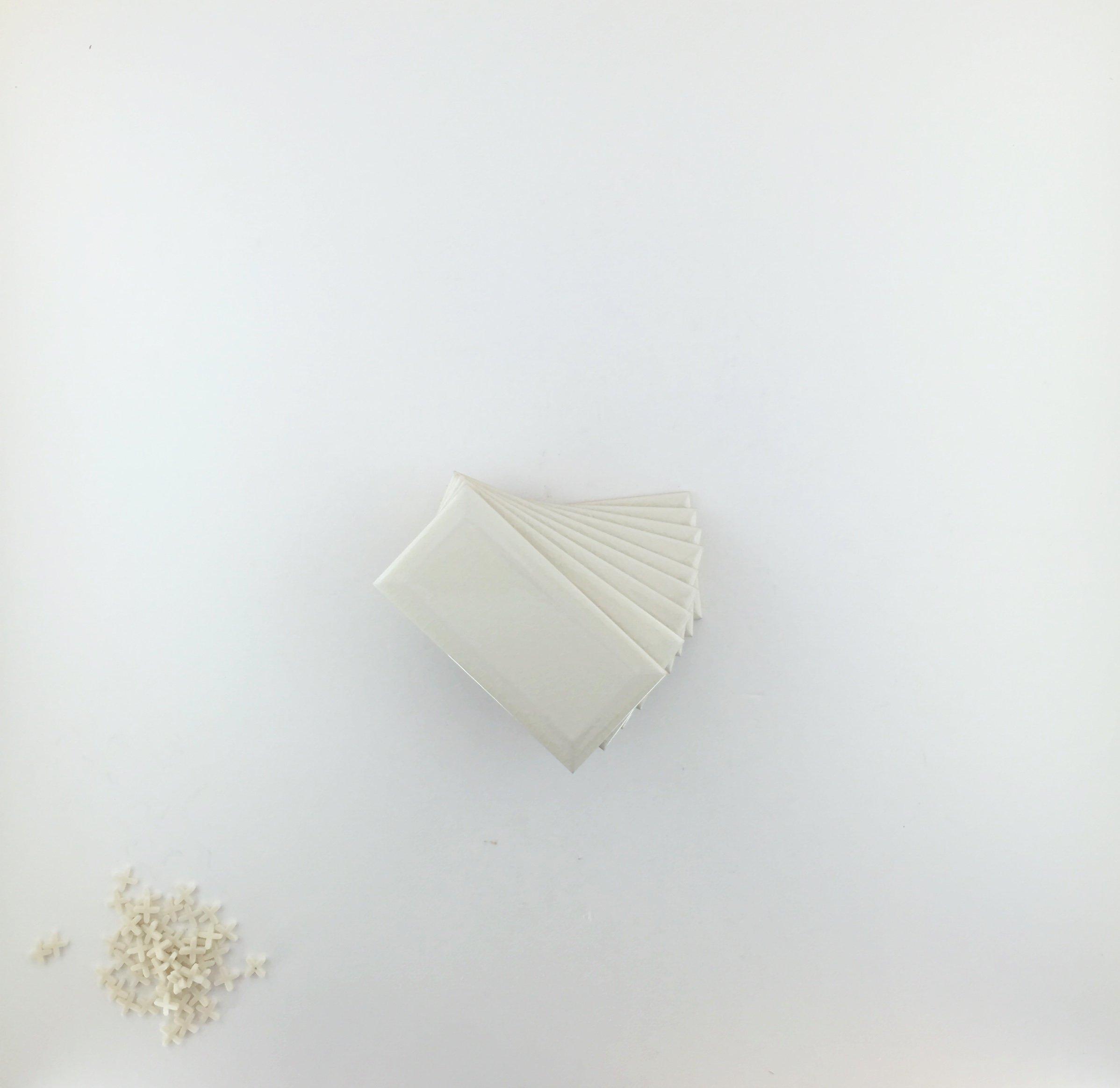 Bone Bevelled Crackle 3x6 Subway Tile Backsplash, Kitchen, Walls, Countertop, Bathroom, Herringbone (Lot of 10sq ft)