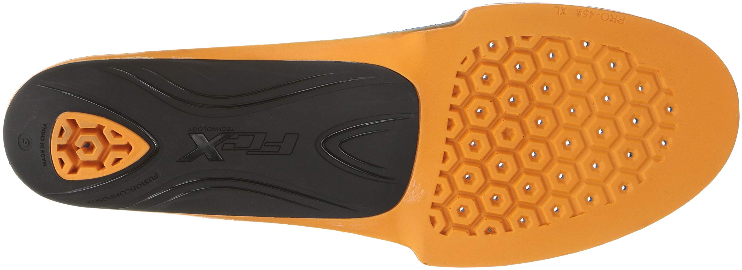 Timberland PRO Anti-Fatigue Footbed Powered by FCX Technology Insole, Orange/Black, L Medium US