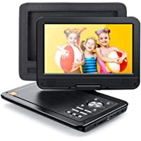 """APEMAN 2020 New 12.5"""" Portable DVD Player, 10.5 inch Swivel Screen for Car/Kids, 7 Hour Rechargeable Battery with Car Headrest Mount Case, Support USB/SD Card/Sync TV and Multiple Disc Formats"""