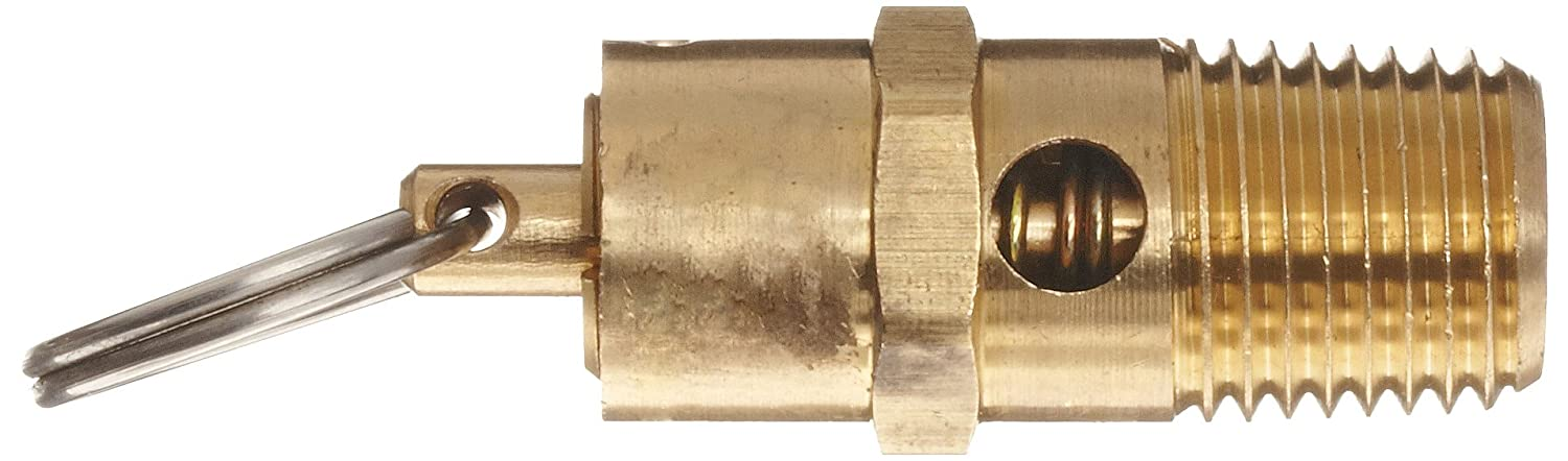Kingston Valves 710D66N1K1-125 1 x 1//125 psi ASME Section VIII Air//Gas Open Lever Buna-N Disc D Orifice Brass Body and Trim Safety Valve