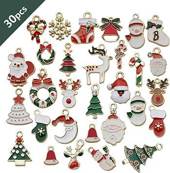 8 Assorted Snowflake Charms Christmas Charms Silver Tone Metal