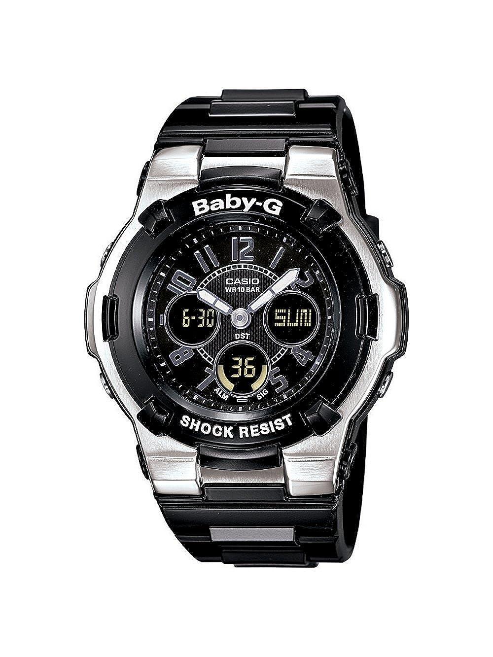 0d88d864fd6e Amazon.com  Casio Women s BGA110-1B2 Baby-G Shock Resistant Black  Multi-Function Sport Watch  Casio  Watches
