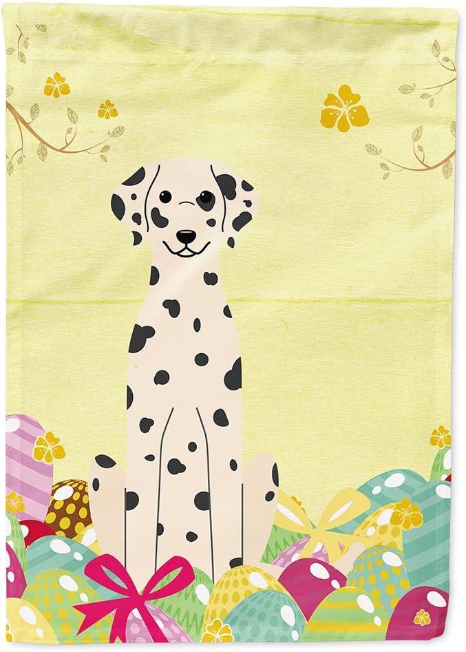 Caroline's Treasures BB6097GF Easter Eggs Dalmatian Flag Garden Size, Small, Multicolor