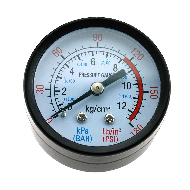 D2D New 1//4 BSP Thread Air Pressure Gauge 0-180PSI For Air Compressor