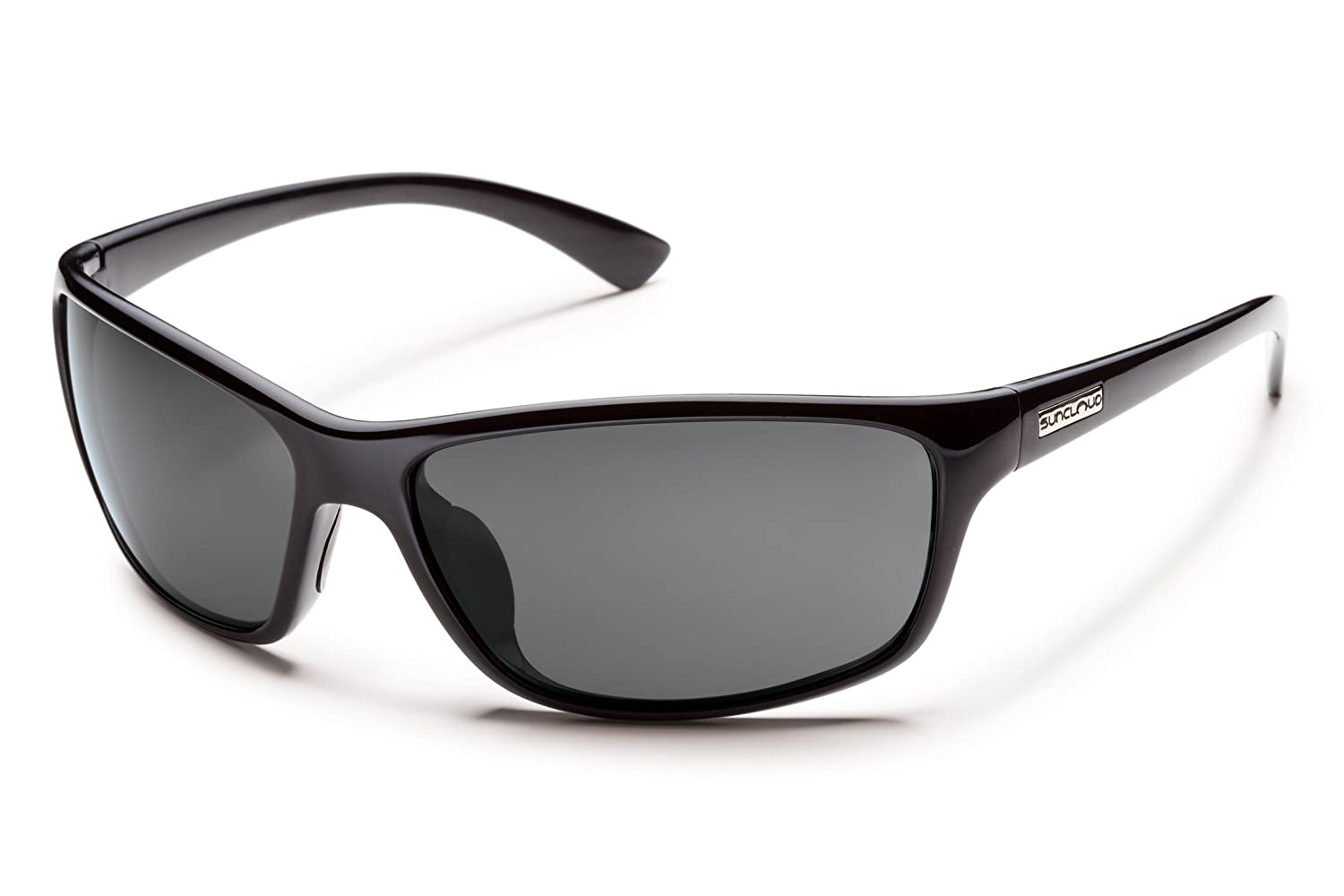 62b395e19cf Amazon.com  Suncloud Sentry Polarized Sunglass (Black Frame Gray Polar  Lens)  Sports   Outdoors