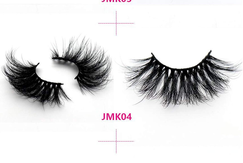 61722ccbde0 Amazon.com : Length 27mm 100% Mink Eyelashes 3D Mink Lashes Thick HandMade  Full Strip Lashes Cruelty Free Luxury Makeup Dramatic Lashes, 04 : Beauty