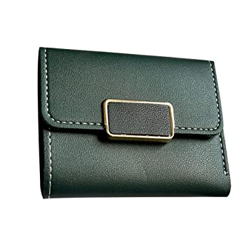 21aaf9e00 Cartera de pequeña Piel Monedero de Elegante y Moda Verde para Mujer y Niña  por ESAILQ: Amazon.es: Equipaje