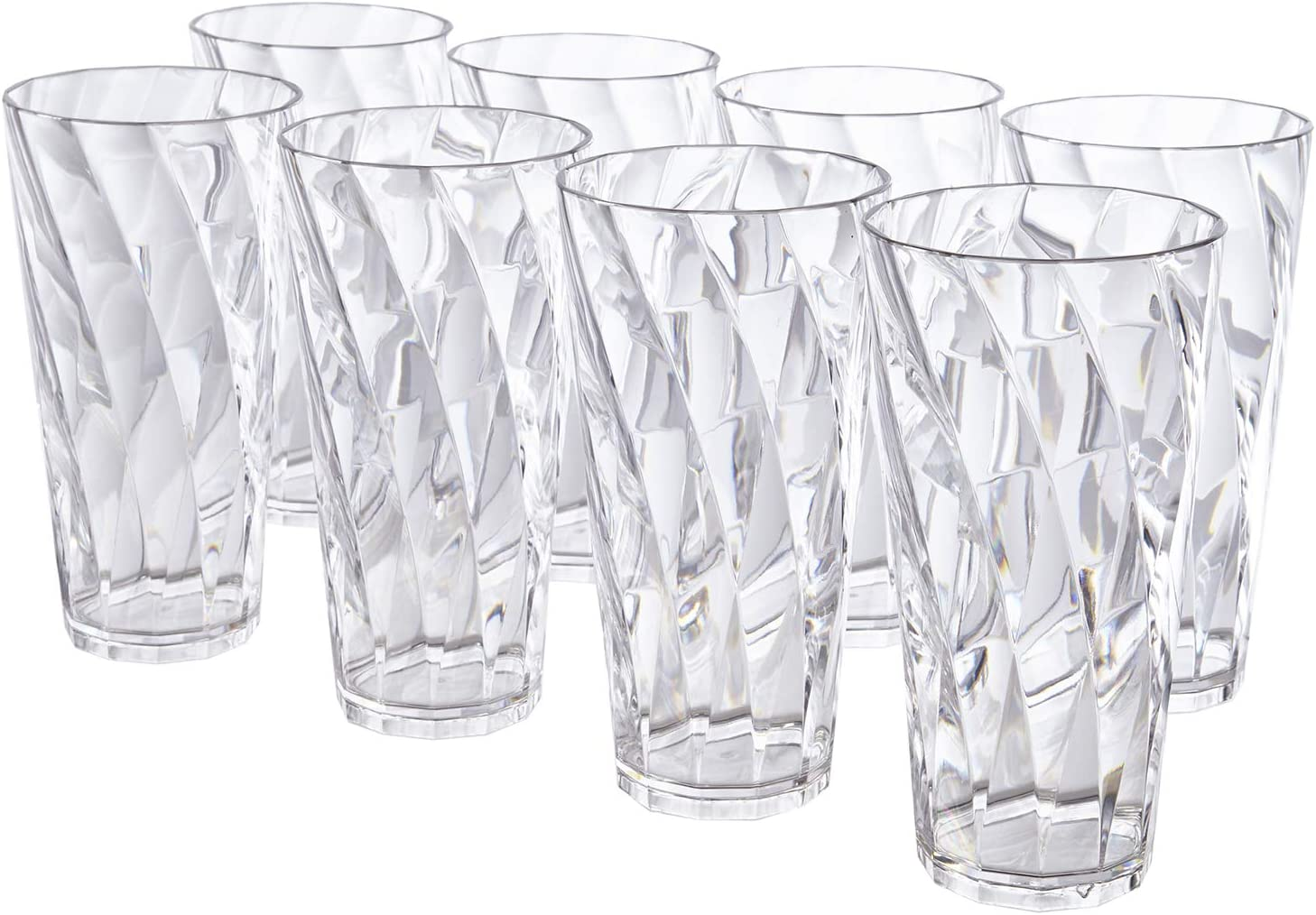 Optix 26-ounce Clear Plastic Cups Set of 8